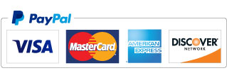Visa, MasterCard, Discover, American Express and PayPal are accepted